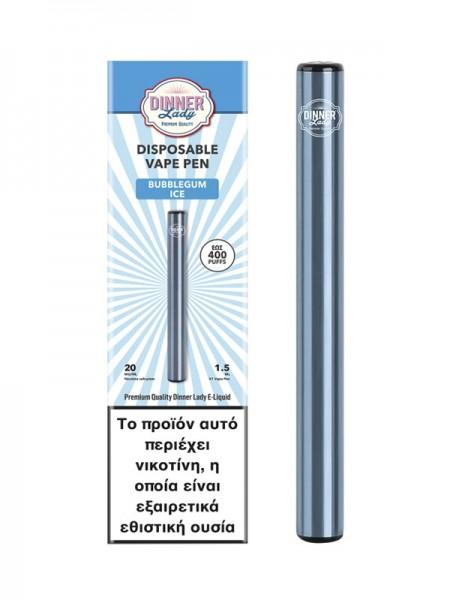 Dinner Lady Bubblegum Ice Disposable Vape Pen 20Mg 1.5ml