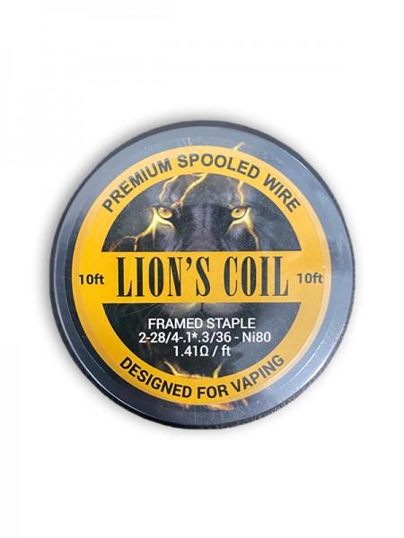Lion's Premium Spooled Wire Framed Staple Ni80 1.41ohm