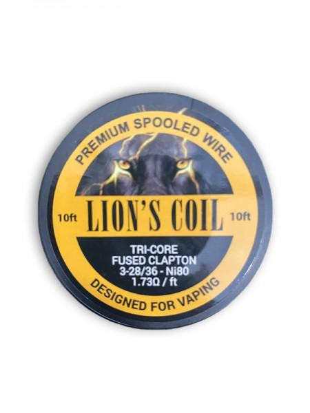 Lion's Premium Spooled Wire Tri-Core Fused Clapton 1.73ohm