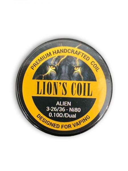 Lion's Premium Handcrafted Coil Ni80 Alien 0.10ohm