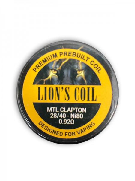 Lion's Coil Premium Prebuilt Coil 10pcs-mtl Clapton N80 0.92ohm