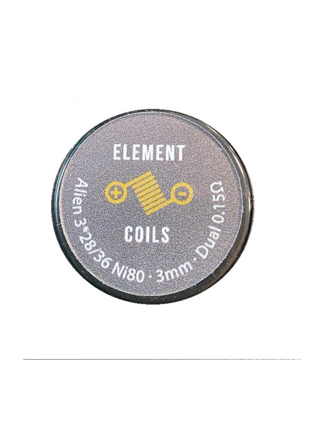 Atmoulis Element Coils Alien3*28/36 Ni80 3mm Dual 0,15Ω