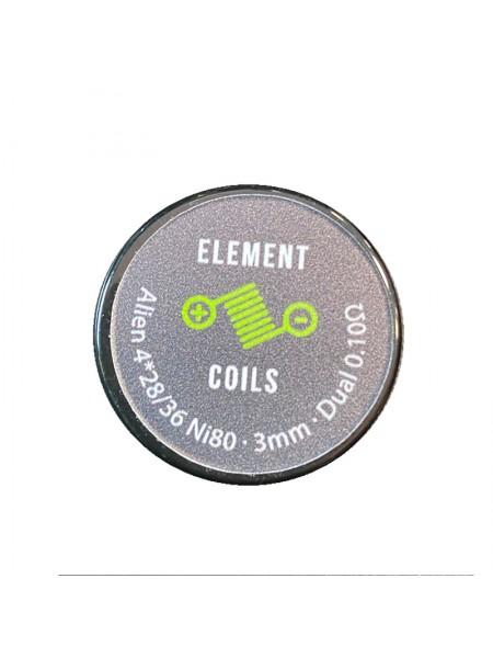 Atmoulis Element Coils Alien4*28/36 Ni80 3mm Dual 0,10Ω