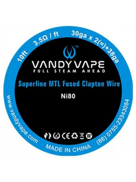 Vandy Vape Ni80 Superfine MTL Fused Clapton Wire