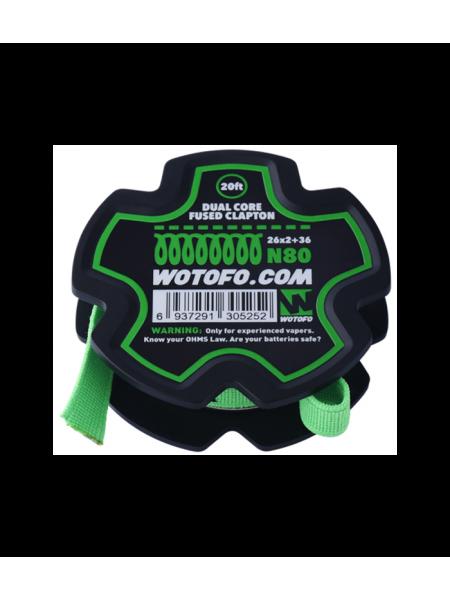 Wotofo Dual Core Fused Clapton Ni80 Wire 26*2+36G
